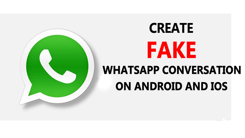 How to create fake conservation or chat in what's up or facebook
